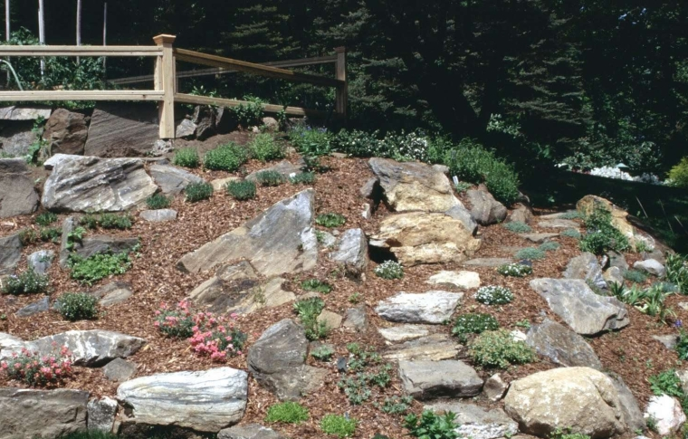 modern rock garden Build A Pond