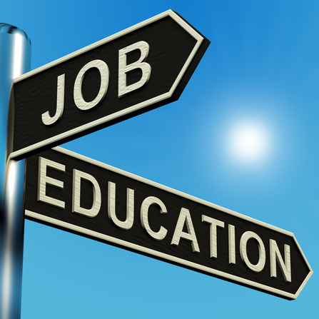 Job Or Education Directions On A Signpost